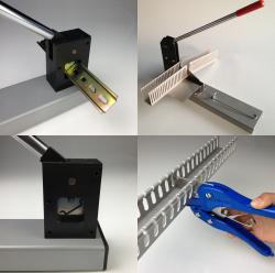 Stříhání DIN lišt a kabelových žlabů