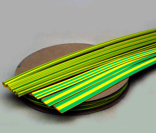 Smršťovací trubky žlutozelené bez lepidla, typ RCz a RPz